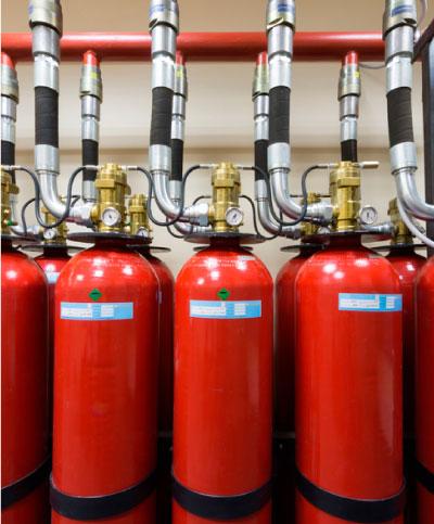 Extinción de fuego con gases inertes